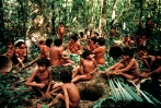 YANOMAMI POUND LEAVES FOR TIMBî, DEMINI, BRAZIL